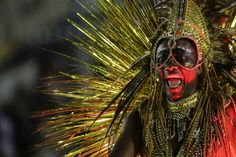 2015 | CARNAVAL DE RIO DE JANEIRO, BRASIL - A member of the Viradouro samba school performs on a float in the Carnival parade at the Sambadrome in Rio de Janeiro, Brazil, Sunday, February 15, 2015.