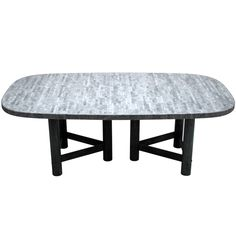 1stdibs | Impressive early 1980's bronze and marble dining table