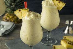 Blended with MOCAFE™ Coconut Fruit Smoothie mix and pineapple. Tropical island not included! Pina Colada Sem Alcool, Pina Colada Recipe Non Alcoholic, Chunky Monkey Cookies, Mexican Drinks, Smoothie Mix, Chocolate Muffins, Fruit Smoothies, Summer Drinks, Kitchens