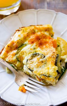 A lightened-up, healthy crustless quiche with heavy flavor and only 105 calories per giant serving.
