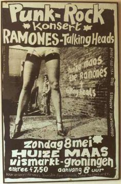 Talking Heads ~ French Concert Poster ~ Ramones