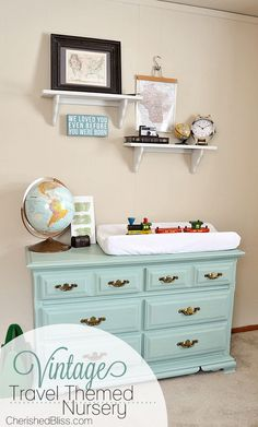 49 Best Ideas For Baby Girl Nursery Room Ideas Diy Budget Changing Tables Budget Nursery, Baby Nursery Diy, Baby Boy Nurseries, Nursery Room, Girl Nursery, Boy Room, Diy Baby, Map Nursery, Modern Nurseries