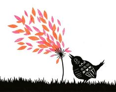 Blow Away - Cut Paper Art Print. by ruralpearl