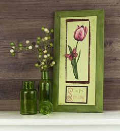 """S"" is for Spring Wall Décor -- Tulips are like sunshine for the soul.  #decoartprojects"