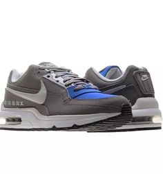 best website ad5e6 a0ce5 NIKE AIR MAX LTD 3 SHOES (SIZE 13) MENS NEW 697977-224 GREY HYPER COBALT  BLUE  Nike  AthleticSneakers