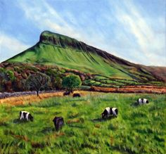 Ben Bulben Artwork For Home, St Patricks Day, Watercolor Paintings, Environment, Mountains, Green, Travel, Google Search, Creative