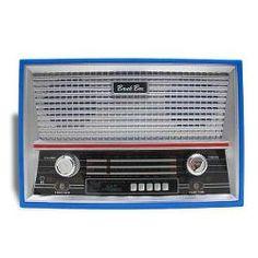 Cofre Rádio Antigo Azul
