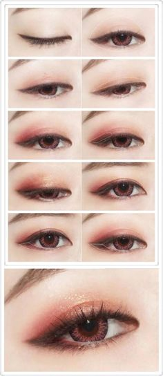Korean makeup tutorials, The building blocks beneath the makeup cap can be used as a concealer. If you're out of concealer, use what's under the cap in your bottle of foundation. This makeup can help Korean Makeup Look, Korean Makeup Tips, Asian Eye Makeup, Korean Makeup Tutorials, Ulzzang Makeup Tutorial, Kawaii Makeup Tutorial, Korean Wedding Makeup, Korean Makeup Tutorial Natural, Korean Makeup Ulzzang