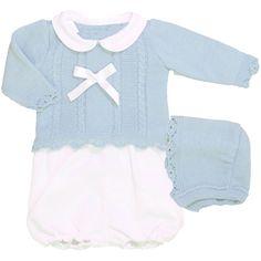 da52407a7 Conjunto de jersey y capota de lana y short de piqué Bebé En Camino,  Conjunto