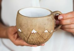 Mountains mug Chritsmas gift Coffee mug by SmilingAlligator on Etsy