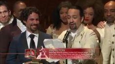 Lin-Manuel Miranda rapped Hamilton the Musical's Grammy acceptance speech and it was amazing.  https://plus.google.com/u/0/+LuisChaluisan/videos?pid=6251902591996202018&oid=101798822559579043978