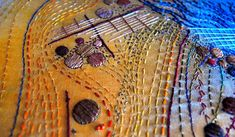 textile artist brysha spoils of oil detail Spotlight on Stitching and Beyond – Part Three