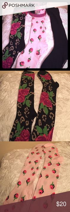 🆕 🎁Betsey Johnson Knee Highs Gift Set, 3 PK🎁 Authentic Betsey Johnson Knee Highs Gift Set, 3 PK. Women. Also Tweens & Teens. 9-11. 1- Black Floral Print. 2-Pink Floral Print. 3-Black. All have Betsey Johnson Trademark Lettering on the Feet. 85% Acrylic/10% Nylon/5% Spandex. Brand New in their Original Gift Box (See 2 Pics). Excellent Condition. No Trades. Betsey Johnson Accessories Hosiery & Socks