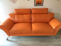 Some before and after pictures of this Leather Sofa Repairs Stepps, Glasgow. It was a full refurbishment which included cushions packed, deep cleaned, some scuffs and marks on the leather fixed and new leather finish on this Bright Orange Sofa.…