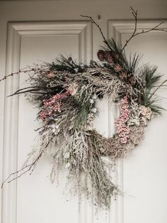 Winter wreath - moss base. Image Belle and Beau
