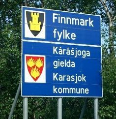 Karasjok (N), aan de grens met Finland