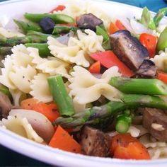 "Roasted Veggie Pasta | ""Wonderful rustic Italian style pasta dish!"""