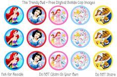 Disney Princesses <3 Retired images uploaded as freebies! Enjoy! ~ FREE Digital Bottle Cap Images!! https://www.facebook.com/thetrendyowlUS http://www.thetrendyowl.com