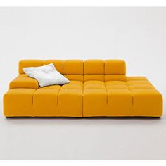 Tufty-Time Sofa by Patricia Urquiola. tubular steel frame with flexible foam inside. looks comfy and comes in different colors! Sofa Furniture, Sofa Chair, Furniture Design, Patricia Urquiola, Sofa Design, B&b Italia Sofa, Yellow Interior, Modern Outdoor Furniture, Piece A Vivre