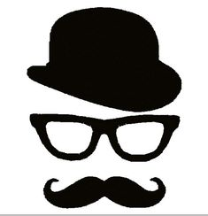 Moustache Mustache Bowler Hat Glasses APPLIQUE. by DChaseDesigns, £2.50  https://www.etsy.com/listing/123691676/moustache-mustache-bowler-hat-glasses?utm_source=google&utm_medium=product_listing_promoted&utm_campaign=needlecraft_low&gclid=CJmi9eSU6b0CFa_m7AodyQwAyg