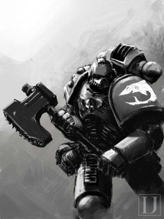 """inoxhammer: """" Carcharodons Space Marine by…"""