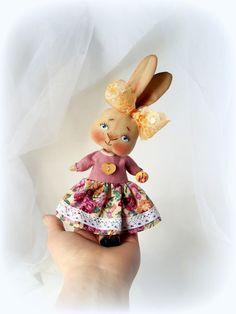 LittleDoll Rabbit doll Cloth Doll art by ViktoriaVenko on Etsy