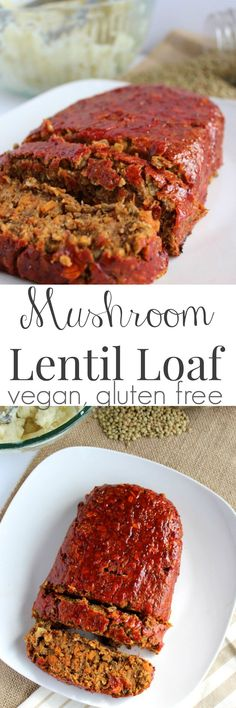 This Mushroom Lentil Loaf is packed with healthy, whole ingredients to make a flavorful vegetarian meal.