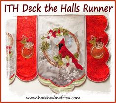 HatchedInAfrica.com | Product Details Hall Runner, Deck The Halls, Pot Holders, Embroidery Designs, Applique, Africa, Hot Pads, Hallway Runner, Potholders