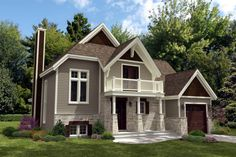 Elevation of Cottage   Country   House Plan 48235