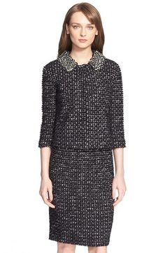St. John Collection Embellished Tweed Knit Jacket available at #Nordstrom
