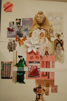 Fashion Moodboard eastern & origami inspirations for fashion design