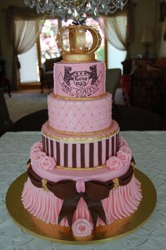 Juicy Couture Cake...  Taylor Hakanen and Julia Taylor, I think this one is the best (without the crown on top)  Let me know what you think?
