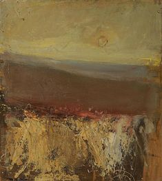 art journal - expression through abstraction — lilithsplace: 'Setting Sun', 1963 - Joan Eardley. Seascape Paintings, Oil Painting Abstract, Landscape Paintings, Abstract Art, Abstract Nature, Abstract Landscape, Glasgow School Of Art, Contemporary Landscape, Oeuvre D'art