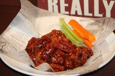 BBQ Chicken Wings - a Hunt Club Men's Lounge staple