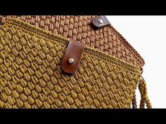 Crochet Handbags, Crochet Purses, Crochet Bags, Crochet Cardigan Pattern, Crochet Patterns, Knitted Bags, Straw Bag, Coin Purse, Basket