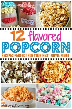 When you think of movie night you instantly think popcorn, right? If so, come on in and check out these flavored popcorn recipes with me! There's nothing more comforting at movie night than popcorn. Sweet Popcorn, Popcorn Snacks, Candy Popcorn, Gourmet Popcorn, Popcorn Recipes, Snack Recipes, Oreo Popcorn, Perfect Popcorn, Popcorn Bar