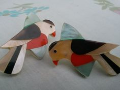 Vintage Bird Earrings by vintapod on Etsy, $7.25
