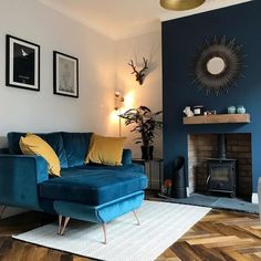 Get inspired by Glam Living Room Design photo by Wayfair Inspirations. Wayfair lets you find the designer products in the photo and get ideas from thousands of other Glam Living Room Design photos. Navy Living Rooms, Glam Living Room, Eclectic Living Room, Living Room Grey, Home And Living, Alcove Ideas Living Room, Small Living, Blue And Mustard Living Room, Modern Living Room Colors