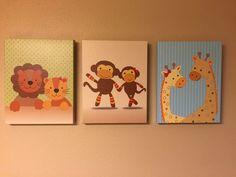 Arte de vivero de arca de Noé  bebé imprime  juego de por Benzarina