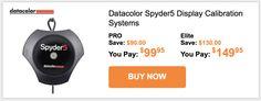 [B&H Photo] Spyder5Pro $99.95US (reg 189) Elite $149.95US (reg 279.95) Monitor Calibrators TODAY ONLY http://www.lavahotdeals.com/ca/cheap/bh-photo-spyder5pro-99-95us-reg-189-elite/146547?utm_source=pinterest&utm_medium=rss&utm_campaign=at_lavahotdeals