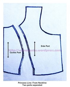 Pattern - Princess Line From Neckline - After Cutting