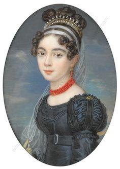 Attr. to Joseph Krafft, Portrait of Henriette Rottmann, 1820, via wilnitsky.com
