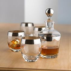 Whiskey Decanter set...would prefer gold + a shiny tray :)