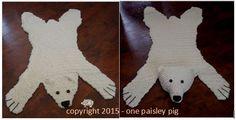 PDF Crochet Pattern  Adorable Crochet Polar Bear by OnePaisleyPig