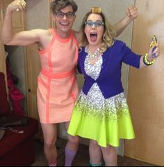 Penelope Garcia and Spencer Reid! Kirsten Vangsness and Matthew Gray Gubler- Criminal Minds