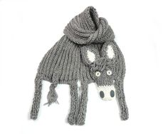 Donkey scarf, funny burro, neck warmer, animal scarf, winter accessory, warm soft, kids teens adults, beige grey, for animal lovers