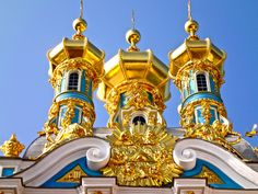 The Catherine designed by Bartolomeo Rastrelli in Tsarskoye Selo,Russia Third photo: Petergof designed in S. Petersburg,Russia