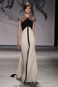 Lela Rose. Black and Beige. Want. All The Gowns From Spring 2015 - NYFW - Elle Spring 2015, Pink Dress, Couture, Roses