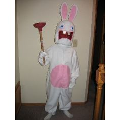 raving rabbid halloween costume brian - Raving Rabbids Halloween Costume