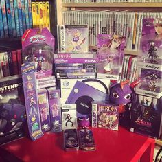 Purple madness!!!!! The first purple colour challenge I've seen with @siccooper    Purple! @retrendogames @igersnintendo #igersnintendo #siccooper #colorchallenge #nintendo #nintendods #ds #snes #zelda #n64 #ninstagram #nin10do #retrocollective #n64sealed #gamecube #supernintendo #videogameroomtour #roomtour #videogamecollection #nintendocollection #retrovideogames #videogamecollection #retrovideogamecollection #amiibo #pokemon #pokemongo #teamvalor #majorasmask #skylanders #worldofnintendo